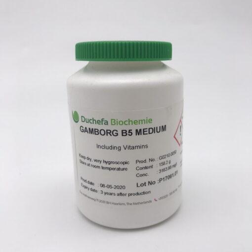 Môi trường Gamborg B5 có chứa Vitamins