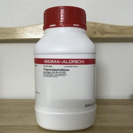 Polyvinylpyrrolidone (average mol wt 40,000)
